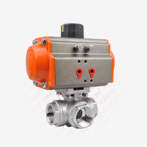 Pneumatic  3 Way Ball Valve