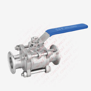 Three Pieces Ball Valve With Clamp Ends