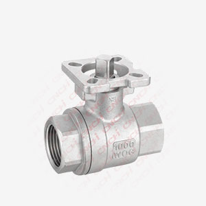 Two Pieces Ball Valve With High Mounting Pad