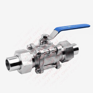 3PC Welded Ball Valve with Connection Pipe