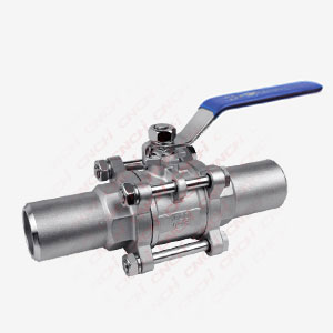 3PC Ball Valve with Long Butt Weding Pipe