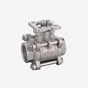 Three Pieces Ball Valve With High Mounting Pad